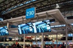 Крупный аэропорт Праги Vaclav Havel Стоковые Изображения