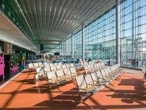 Крупный аэропорт Шарль де Голль Парижа Стоковое Изображение RF