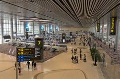 Крупный аэропорт 4 Changi Стоковая Фотография