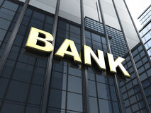 Крупный банк Стоковая Фотография