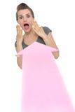 крупный бизнесс стрелки указывая вспугнутая женщина Стоковые Фото