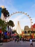 Крупный игрок, Лас-Вегас, световой эффект захода солнца Стоковая Фотография RF
