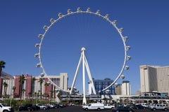 Крупный игрок Ferris катит внутри Лас-Вегас, Неваду Стоковая Фотография
