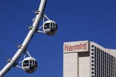 Крупный игрок Ferris катит внутри Лас-Вегас Стоковое Изображение RF