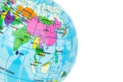 Крупный план Азия модели глобуса Стоковое фото RF