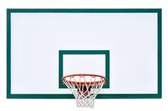 Крупный план бакборта обруча баскетбола изолированный клеткой Стоковые Изображения