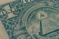 Крупный план банкноты долларовой банкноты Стоковые Изображения RF