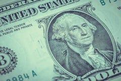 Крупный план банкноты долларовой банкноты Стоковые Фотографии RF