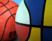 крупный план баскетбола цветастый Стоковые Изображения RF