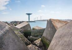 Крупный план больших бетонных плит Стоковое Фото