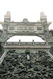 Крупный план виска Wen wu с туманом в Тайване стоковое фото