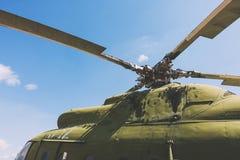 Крупный план воинского вертолета Стоковое фото RF