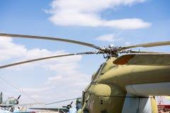 Крупный план воинского вертолета Стоковое Фото