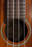 Крупный план гитары гавайской гитары с строками Стоковые Фотографии RF