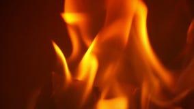 Крупный план горения огня в замедленном движении акции видеоматериалы