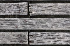 Крупный план грубый выдержанный украшать твёрдой древесины Стоковое Изображение