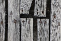 Крупный план грубый выдержанный украшать твёрдой древесины Стоковая Фотография RF