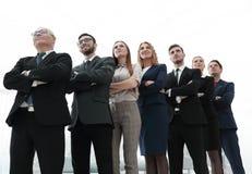 Крупный план группы в составе бизнесмены Стоковая Фотография