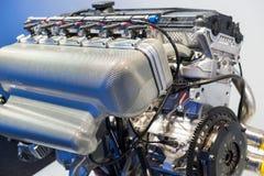 крупный план двигателя BMW стоковое изображение