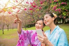 Крупный план женщины красоты азиатской в токио, Японии Стоковое Изображение