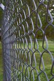 Крупный план загородки звена цепи Стоковое Фото