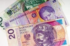 Крупный план иностранной валюты международных валют денег Стоковое фото RF