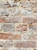 Крупный план кирпичной стены стоковое изображение