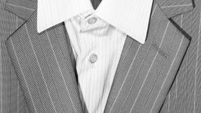 Крупный план кнопок и отворота костюма для дела или официально носки Стоковая Фотография RF