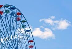 Крупный план колеса ferris на солнечный день Стоковые Фото