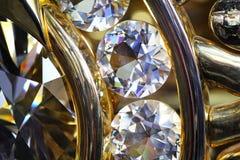 Крупный план кольца пасьянса диаманта Стоковое Фото