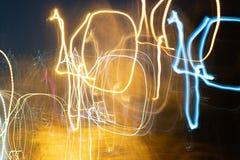 Крупный план конспектов греет света вечера стоковое изображение