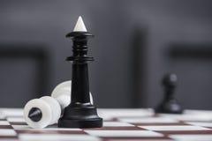 Крупный план короля шахмат Стоковые Изображения