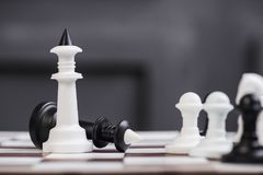 Крупный план короля шахмат Стоковое Фото