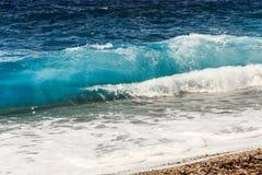 Крупный план красивой волны стоковые изображения