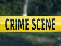 Крупный план ленты полиции места преступления желтый стоковое изображение rf