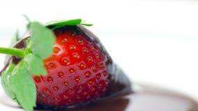 Крупный план макроса свежего плодоовощ клубники Стоковое Изображение