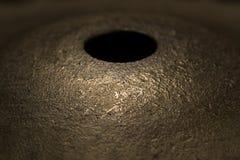 Крупный план макроса цимбалы барабанчика Стоковое Фото