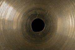 Крупный план макроса цимбалы барабанчика Стоковые Фотографии RF