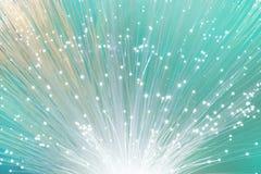 Крупный план на конце кабеля сети стекловолокна, экземпляр-космоса Стоковые Фото