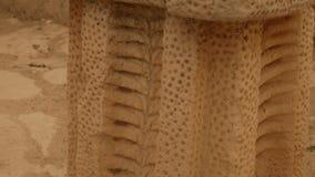 Крупный план неолитического украшенного каменного орнамента акции видеоматериалы