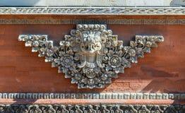 Крупный план орнамента на виске Batuan, Ubud, Бали Индонезии стоковое изображение rf