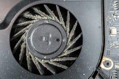 Крупный план пакостного вентилятора компьютера Стоковое Изображение RF