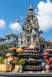 Крупный план памятника Patung Catur Muka, Klungkung Бали Индонезии стоковое фото