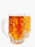 крупный план пива mugs взгляд Стоковая Фотография RF