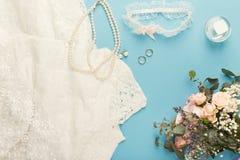 Крупный план подготовки свадьбы Стоковое Изображение