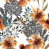 крупный план предпосылки осени красит красный цвет листьев плюща померанцовый Абстрактная флористическая безшовная картина иллюстрация штока