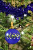 Крупный план предпосылки рождественской елки Стоковое фото RF