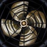 Крупный план пропеллера корабля прифронтовой стоковые изображения rf