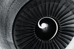 Крупный план реактивного двигателя стоковые изображения rf