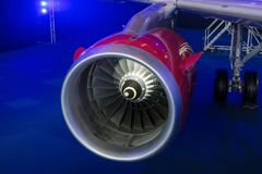 Крупный план реактивного двигателя стоковые фотографии rf